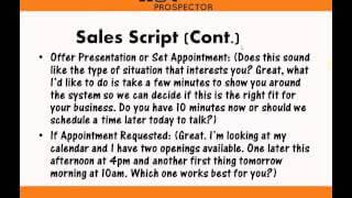 inside sales scripts