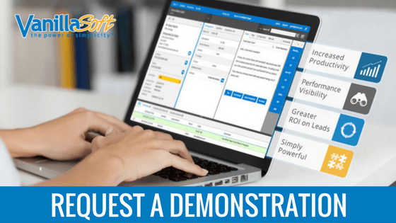 Request a VanillaSoft demonstration for inside sales reps