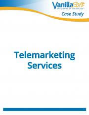 Cover for Telemarketing Services Company Case Study