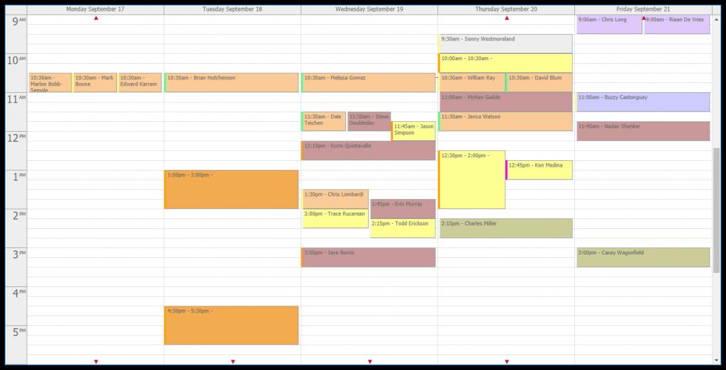 Vanillasoft calendar