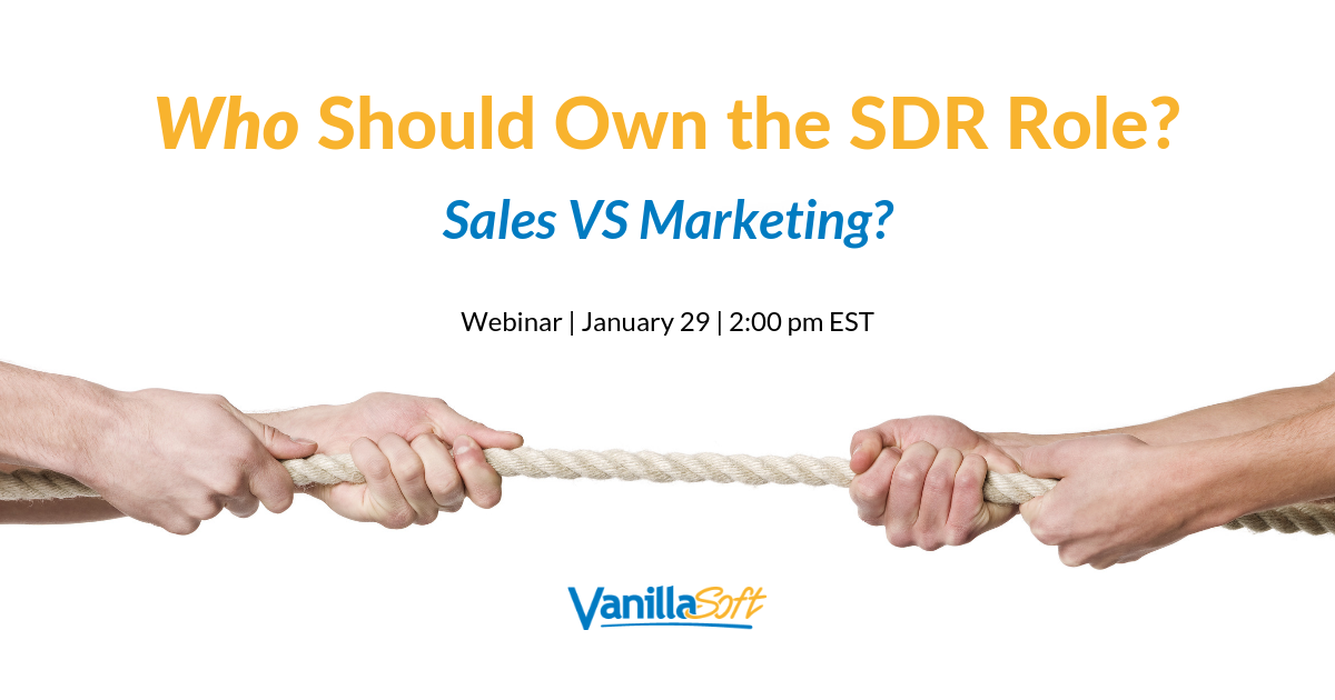 Image for SALES VS MARKETING: Who Should Own the SDR Role?