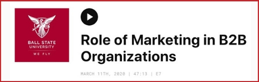 Image for Role of Marketing in B2B Organizations
