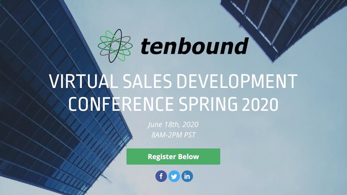 Image for [Virtual Conference] Tenbound Virtual Sales Development Conference