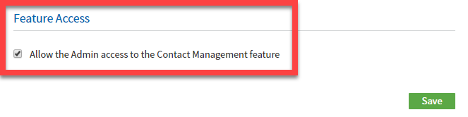 restrict admin-combo feature