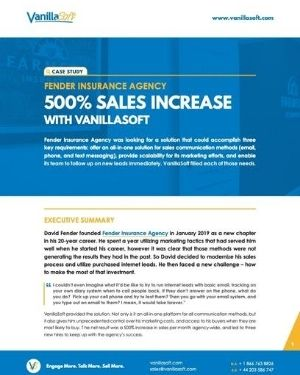Cover for Insurance Agency Sees 500% Sales Increase with VanillaSoft