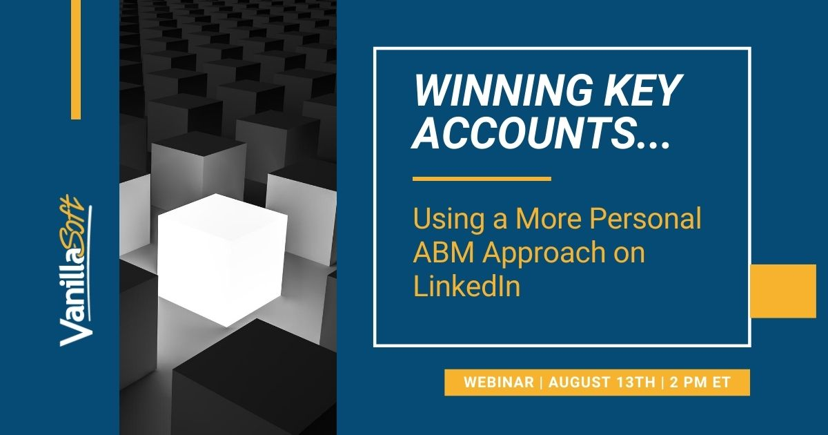 Image for [Webinar] Winning Key Accounts Using a More Personal ABM Approach on LinkedIn