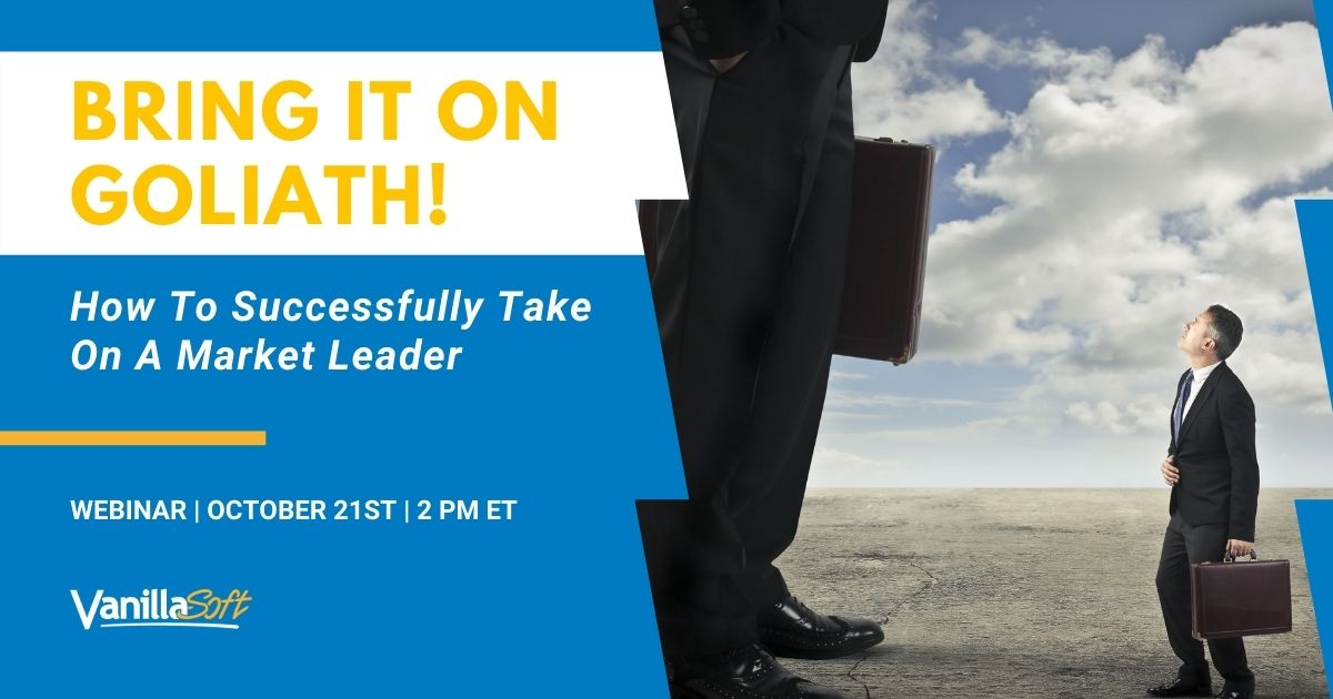 Image for [Webinar] Bring It On Goliath! How to Successfully Take On A Market Leader