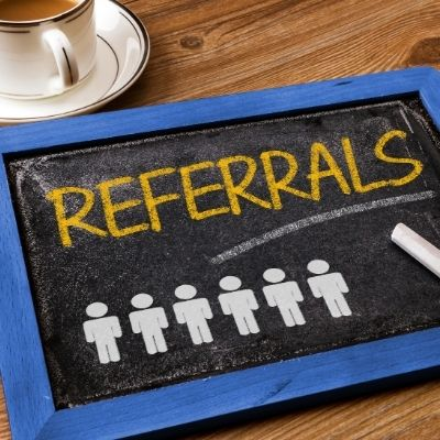 use referrals in appointment setting