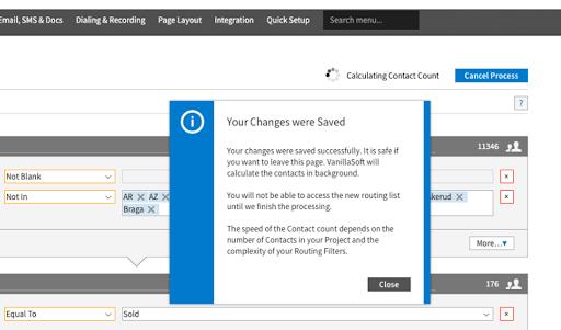 intellective routing filter saving